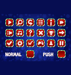 Christmas buttons for web and 2d games ui normal vector