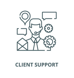 client support line icon client support vector image