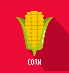 Corn icon flat style vector