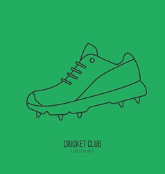 Cricket sport game logotype design concept vector image