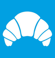 Croissant icon white vector