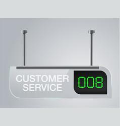 customer service sign board vector image