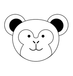 Cute monkey or stuffed animal icon image vector