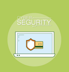 cyber security emblem vector image