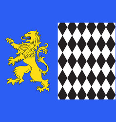 Flag of lesparre-medoc in gironde of vector