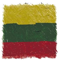 Flag of lithuania handmade square shape vector