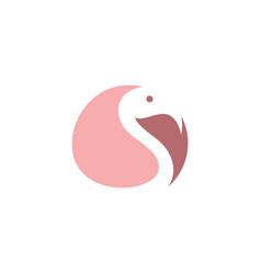 Flamingo logo symbol icon design vector