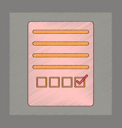 flat shading style icon checklist questionnaire vector image