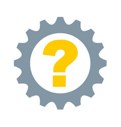 gear machine with question isolated icon vector image