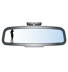 Girl in the mirror vector