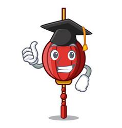 Graduation chinese lantern character cartoon vector