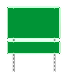 green blank roadsigns vector image
