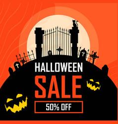 Halloween sale banner backgrounds vector