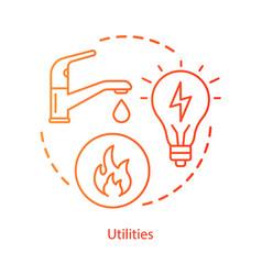 Household communal utilities concept icon public vector