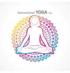 International yoga day - 21 june vector