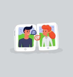 internet communication through modern gadgets man vector image
