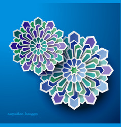 Islamic celebration geometric design art vector
