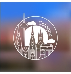 Koln linear logo Trendy stylish landmarks vector image
