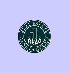 Letter reag alphabetic logo design template real vector