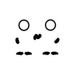 man symbol black vector image