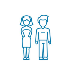 marital relationship linear icon concept marital vector image