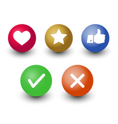 mark check okcancel like voting and rating icon vector image