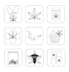 Medical marijuana set vector image
