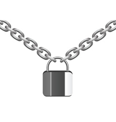 metal chain and lock vector image