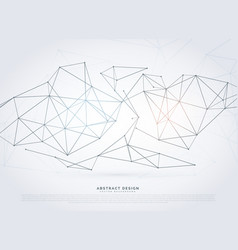 Modern wireframe network background in digital vector