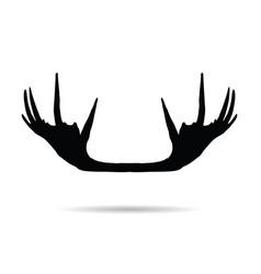 Moose horn silhouette vector