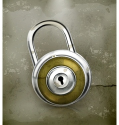 Padlock old-style vector image