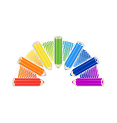 Pencil Rainbow Background Card Or Cover Template vector