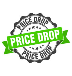 Price drop stamp sign seal vector