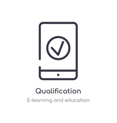 Qualification outline icon isolated line from vector