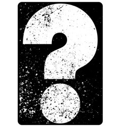 Question mark typographical grunge vintage poster vector