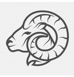 Ram symbol logo emblem vector