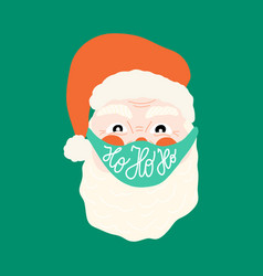 Santa claus wearing a protective face mask against vector