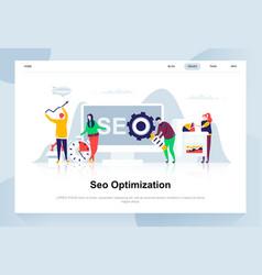 seo analysis modern flat design concept vector image