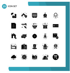 Set 25 commercial solid glyphs pack for love vector