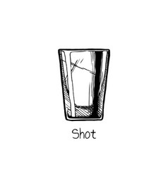 shot glass vector image