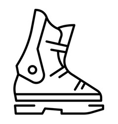 ski boot icon outline style vector image