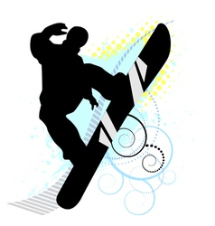 snowboard skiers vector image