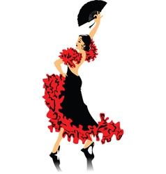 spanish dancing vector image