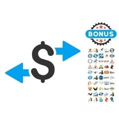 Spend Money Icon With 2017 Year Bonus Pictograms vector
