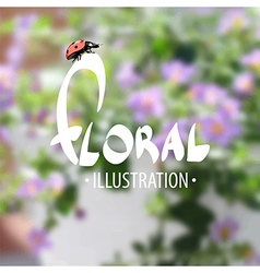 Summer delightful floral background vector