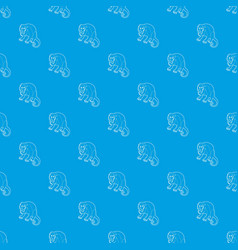 surprised monkey pattern seamless blue vector image