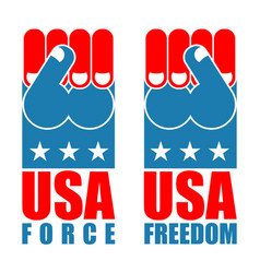 usa force hand american freedom fist us national vector image
