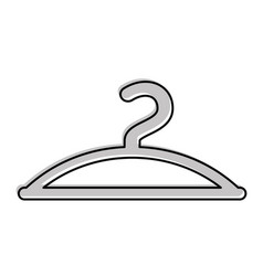 clothes hanger hook fashion empty icon vector image