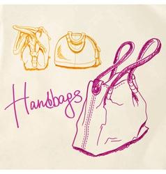 handbags vector image