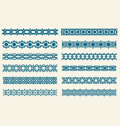 islamic ornaments link seamless decorative vector image